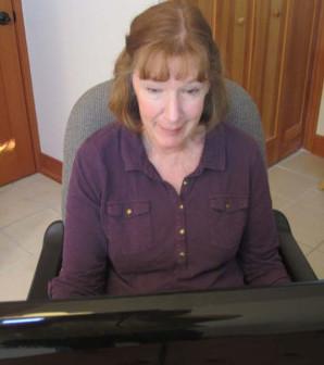 me at computer small
